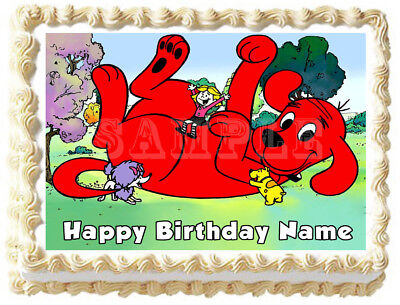 Peachy Clifford The Red Dog Party Edible Cake Topper Image Ebay Personalised Birthday Cards Petedlily Jamesorg