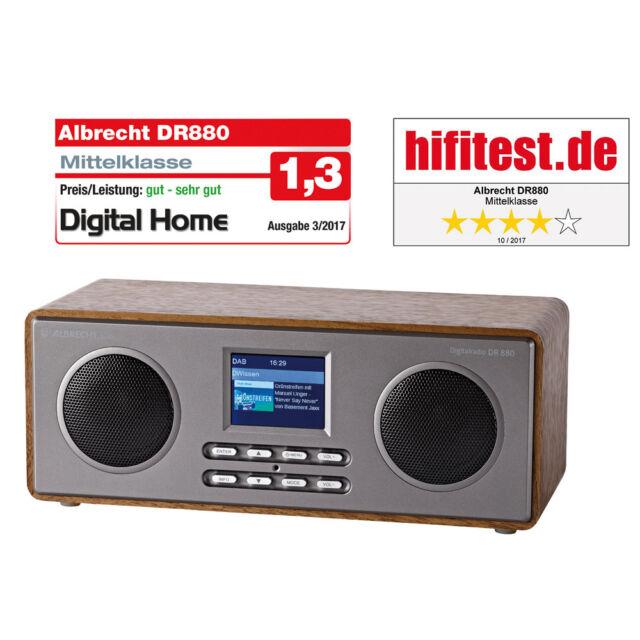 "Albrecht DR 880 Digitalradio DAB+/UKW, 2,4"" Display Wecker Fernbedienung"