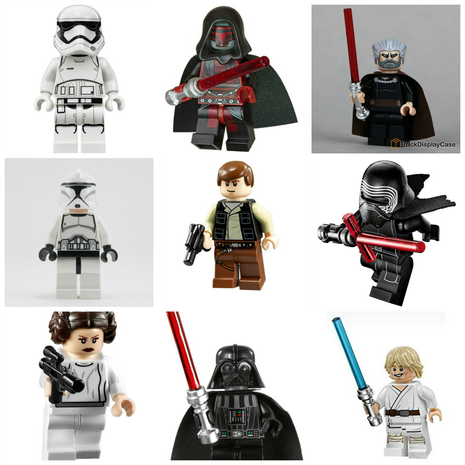 Star Wars Last Jedi Lego Darth Vader Kylo Ren Han Solo Mini Figures 60+ Designs