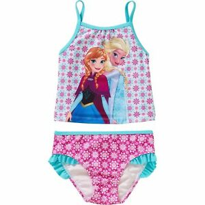d0271860349e3 Disney Frozen Elsa   Anna Toddler Girl Tankini Bikini Swimsuit Size ...