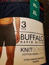 Buffalo David Bitton Mens 3 Pack Knit Boxers
