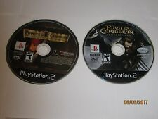 Playstation 2 - PS2 - Lot Of 2 Pirates Of The Caribbean Games - Disc Only