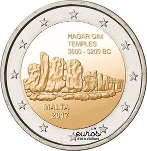 Piece-de-2-euros-commemorative-MALTE-2017-Hagar-Qim-UNC-350-000-unites
