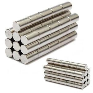 25-X-Starke-Neodym-Magnete-N52-6x10mm-Zylinder-Magnet-Pinnwand-Kuehlschrank-Buero