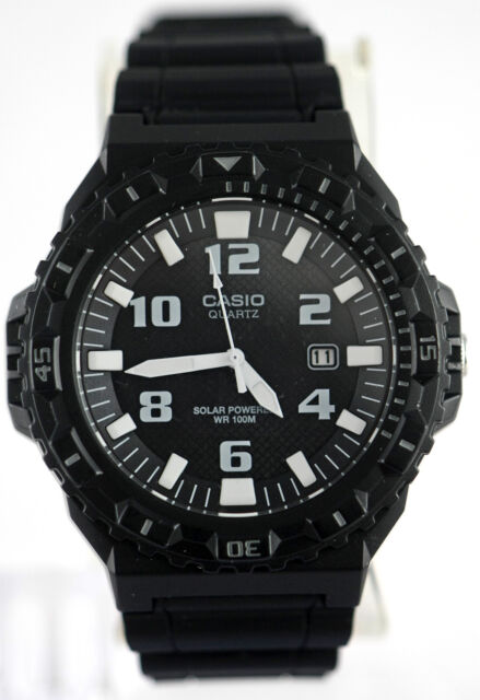 Casio MRWS300H-1BV Mens Black Tough SOLAR Watch Divers 100M WR Analog New