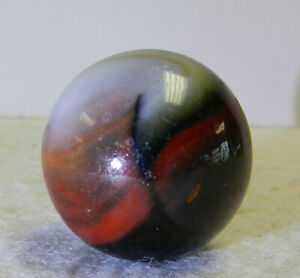 #12491m Vintage Peltier Glass Shooter Marbles .99 Inches