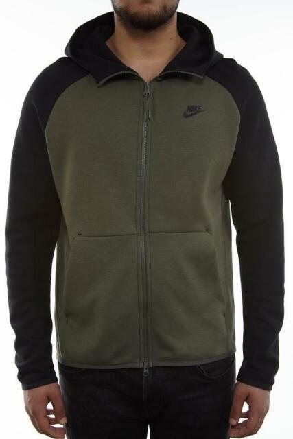 nike tech fleece hoodie in black