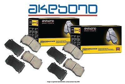Akebono Euro Ceramic Brake Pads And Sensors USA MADE AK96716 FRONT+REAR