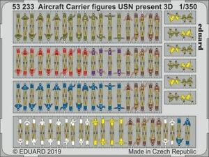 EDUARD 1/350 SHIP- USN PRESENT AIRCRAFT CARRIER FIGURES (PAINTED) 53233