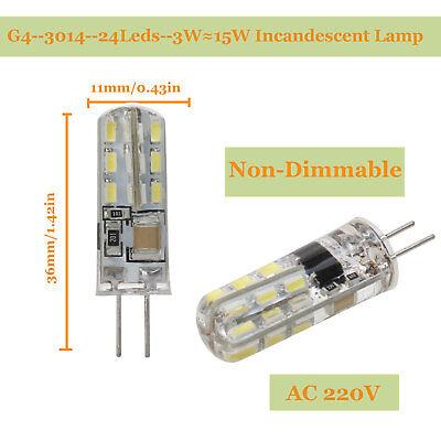 G4 G9 E14 Bombilla LED AC DC12V 220V Regulable 2835 3014 Cob Lámpara Sustituye a