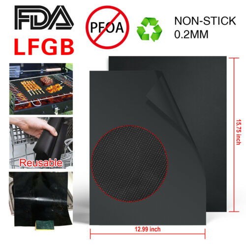 Make Grilling Easy BBQ! Reusable BBQ GRILL MAT set of 4 or 8 sheets Non-stick