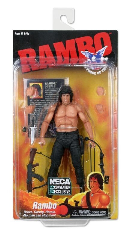 SDCC 2015 NECA RAMBO FORCE OF gratuitoDOM 7 cifra EXCLUSIVE SYLVESTER STtuttiONE