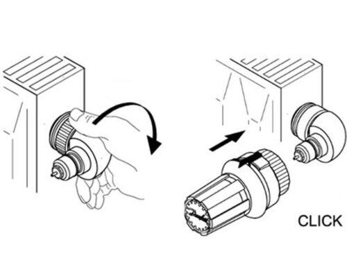 Danfoss Heizkörper Winkel-Thermostatkopf Winkeladapter Ventilheizkörper 013G1350