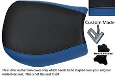 ROYAL BLUE & BLACK CUSTOM FITS TRIUMPH SPEED TRIPLE 955 i 97-01 FRONT SEAT COVER