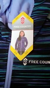 NEW-Free-Country-Girls-039-Hooded-Softshell-Jacket-Size-5-6-70-Retail