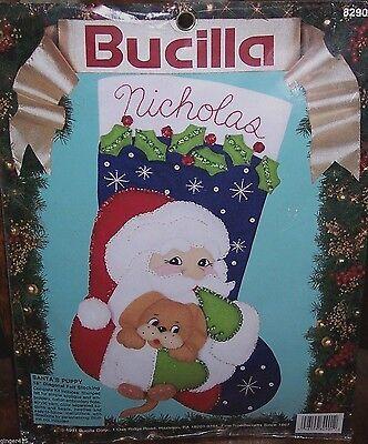 "Bucilla COMPUTER SANTA /""WWW.COM/"" Felt Christmas Stocking Kit 18/"" OOP RARE 83954"