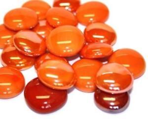 Mosaico vetro piastrelle pepite arancione mix arrotondato gemme