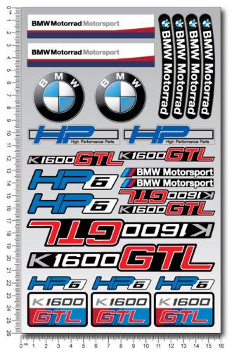 K1600GTL motorcycle quality stickers decals set bmw k1600 GTL motorrad HP6 gtl