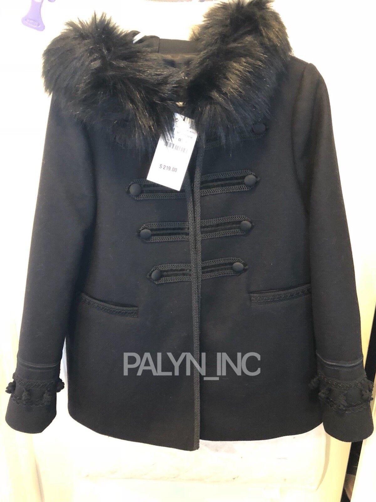 Nuevo con Etiqueta  219 Zara  17 18 Abrigo Texturizado Capucha Chaqueta Lana  barato en línea