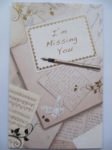LOVELY COLOURFUL SWIRLS IM MISSING YOU BLANK GREETING CARD