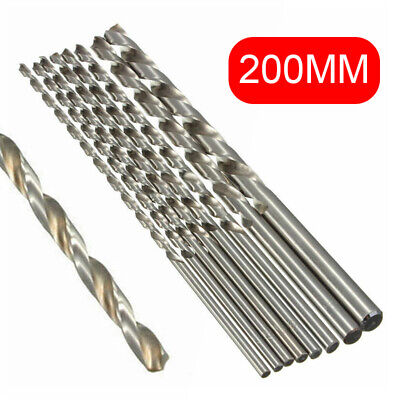2~10mm 200mm Diameter Extra Long Straight Shank Auger Metal Twist Drill Bit  New