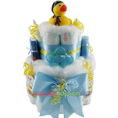 """★ Windeltorte Ente """"Schlafmütze Harry"""" ★ Geschenk zur Geburt Babyparty Taufe"""
