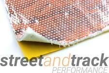 Alu Gewebe Hitzeschutz Matte selbst klebend 50x50cm 5mm 850°C Fiberglas Platte