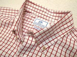 Southern-Tide-Cotton-Red-Tattersall-Check-Skipjack-Sport-Shirt-NWT-Medium-125