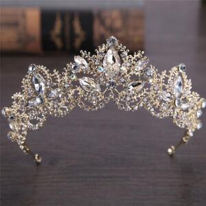 Rhinestones-Baroque-Bridal-Crown-Tiara-Wedding-Bride-Hair-Headdress-FlowerKingRS