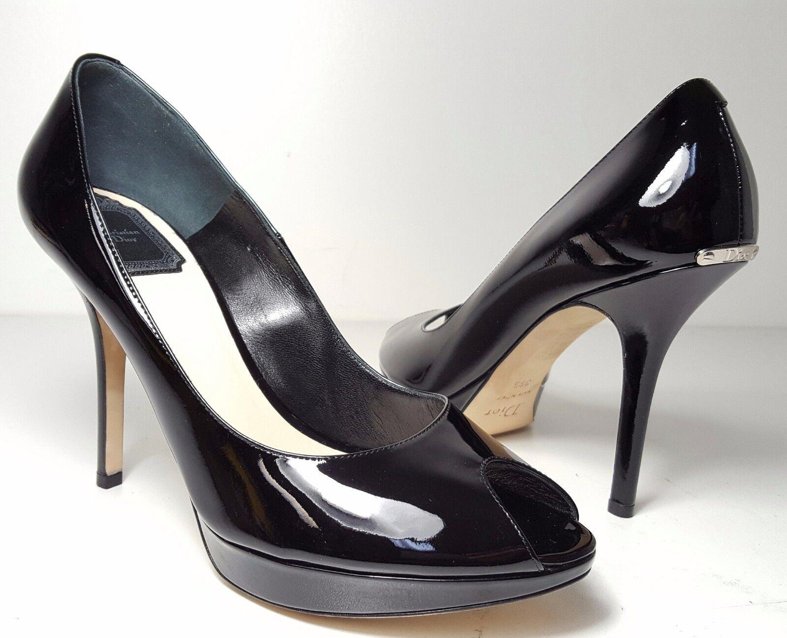 prezzi all'ingrosso  710 Dimensione 39.5 US US US 8.5 Christian Dior Miss Dior nero Peep Toe Heel Pumps scarpe  la migliore offerta del negozio online