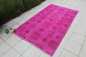 FREE-SHIPPING-Vintage-Handmade-Turkish-Oushak-Overdyed-Area-Rug-6-039-9-034-x4-039