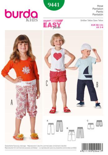 Shorts 9441 98-134 cm Simplicité BURDA sewing pattern Girls Summer Pantalon