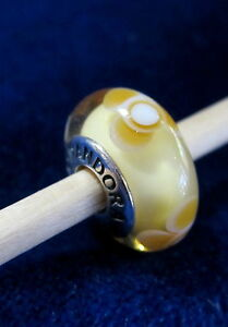 d8e272ae7 Image is loading AUTHENTIC-PANDORA-790645-YELLOW-FLOWERS-FOR-YOU-MURANO-
