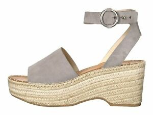 b1447b8a4a4 Dolce Vita Lesly Grey Suede Women s Platform Wedge Espadrille ...