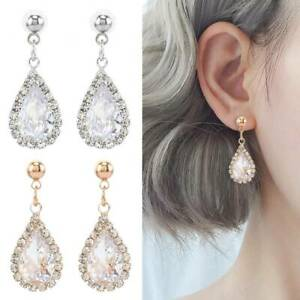 Fashion-Gorgeous-925-Silver-Gold-Rose-Gold-Drop-Earrings-Women-Wedding-Jewelry