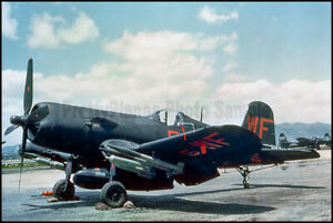USMC-F4U-Corsair-VMF-N-513-Flying-Nightmares-Korea-1952-8x12-Aircraft-Photos