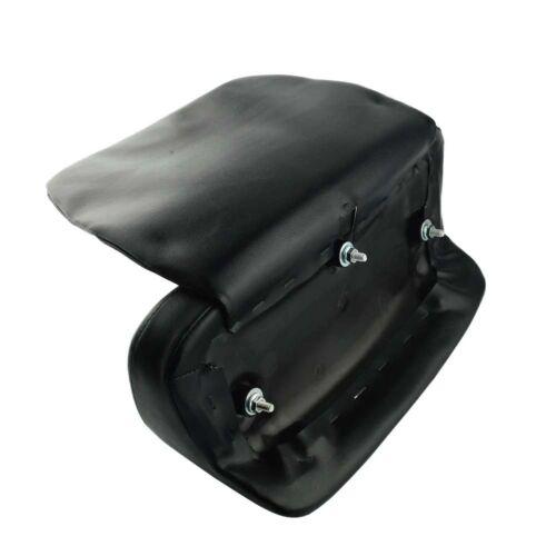 Black Pillow Pad Backrest fits 2014-2017 Harley Touring Chopped Razor Tour Pak