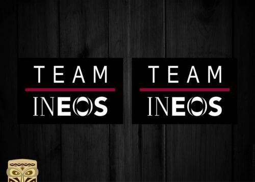 Team Ineos Pro Tour 2019 Autocollant Sticker Aufkleber Autocollant Laminé X2