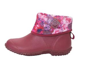 Muck MUCKSTER MID Boot WATERPROOF Garden Shoe AUTHENTIC Black ROSE Womens 11 US