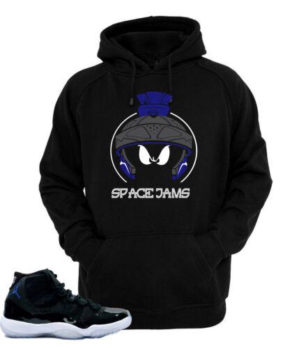 """Hoodie to match Air Jordan Retro 11 Space Jam Sneakers """"Marvin X"""