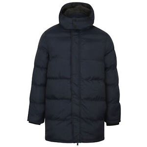Mens-Padded-Hooded-Long-Jacket-Dissident-Coat-Quilted-DAGNEY-Warm-Winter-Lined