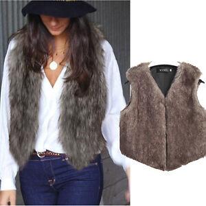 Women-Winter-Vest-Sleeveless-Coat-Outerwear-Faux-Fur-Long-Jacket-Waistcoat-Vogue