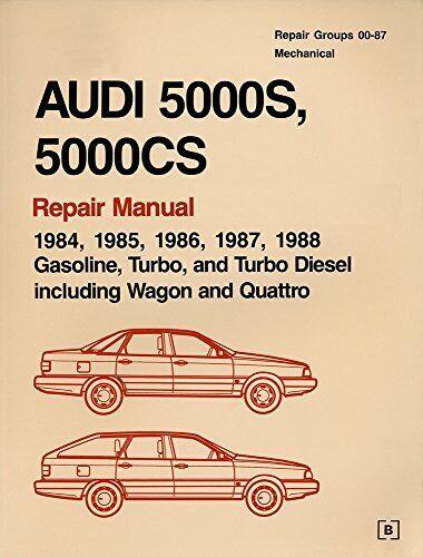 Audi 5000s, 5000cs: Official Factory Repair Manual, 1984, 1985, 1986, 1987, 1...