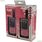 2 Motorola TLKR T41 Walkie Talkie PMR 446 2 Way 4KM 2M Radio Set Twin Pack, Pink
