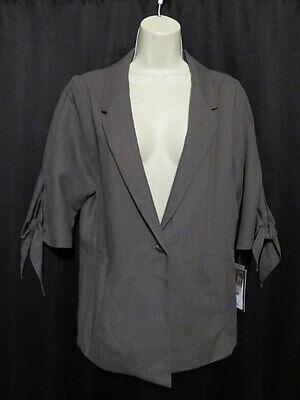 Nwt Lola Sophie Blazer Jacket Linen Lyocel Blend Taupe Boutique Label Size L Ebay