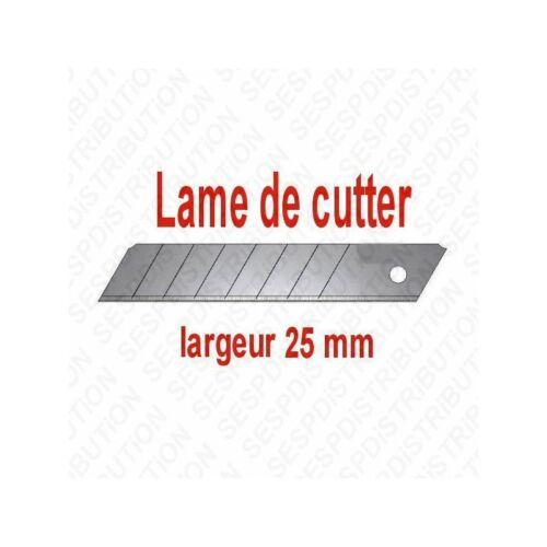 18 lot de 10 lames de cutter 9 25 mm