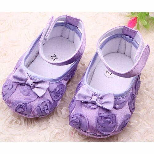 Semelle Souple Fille Bébé Chaussures Anti-dérapant en COTON bébé nourrisson nouveau-né Prewalker 0-18