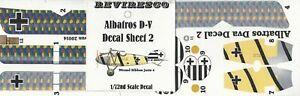 Albatros-D-V-Dt-Jaeger-WW-1-Decal-Set-Wound-Ribbon-Jasta-4-1-72