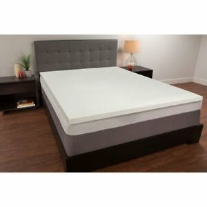 Sealy White 15 Inch Twin Memory Foam Mattress Topper 815359021879