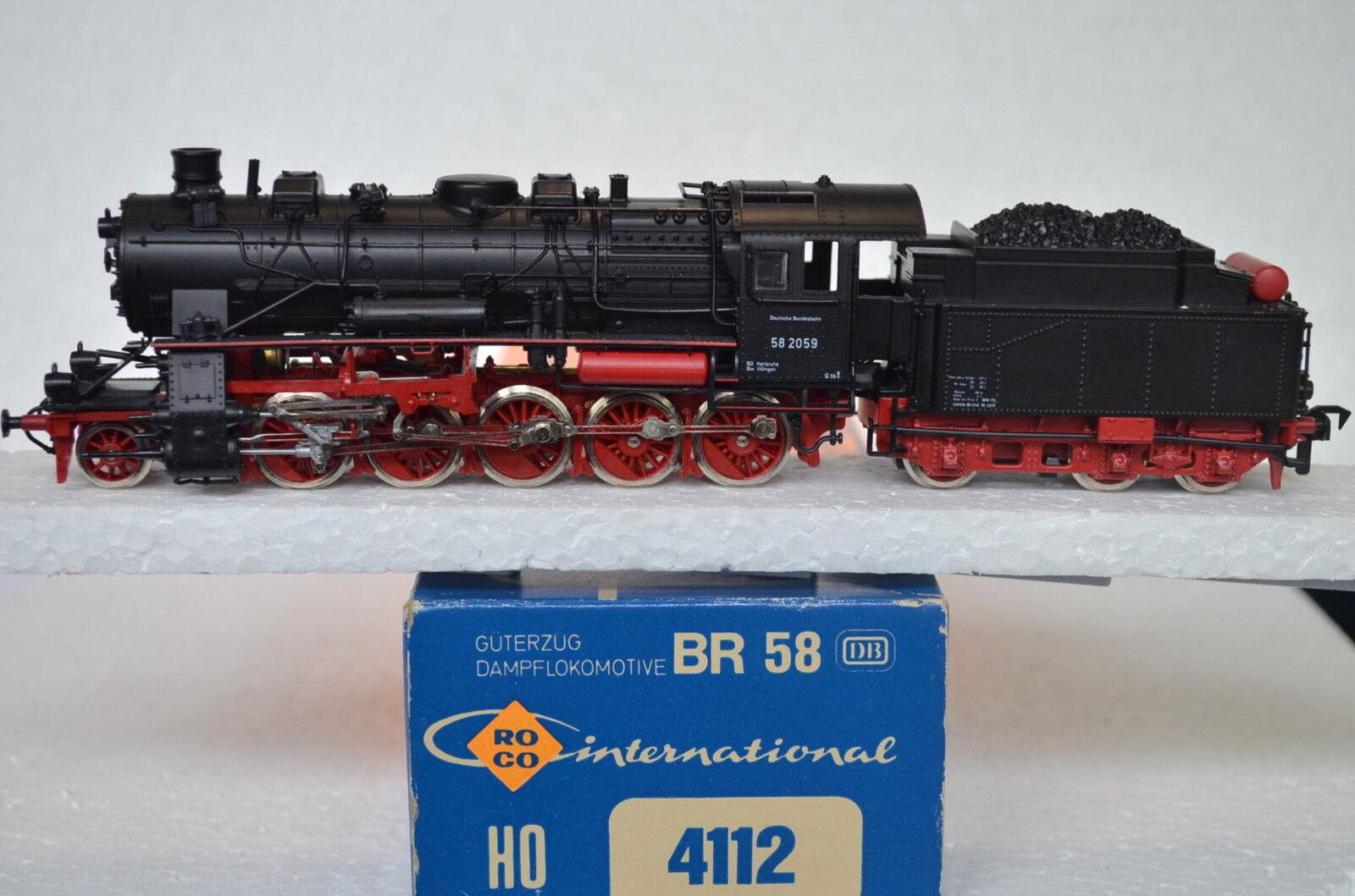 ROCO HO 4112 locomotiva a vapore BR 58 2059 DB  cd/311-59s8/1